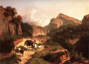 Italian Landscape with Sheperdess