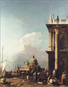 Venice: The Piazzetta Looking South-west towards S. Maria della Salute