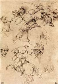 Study of battles on horseback