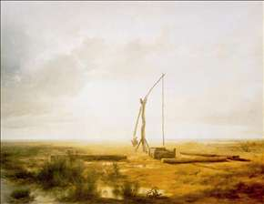 View of the Great Hungarian Plain with Draw Well