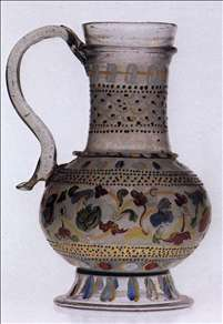 Glass Carafe with Enamel Decoration