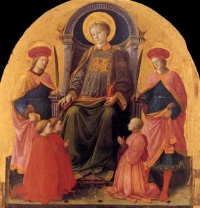 St Lawrence Enthroned with Saints and Donors