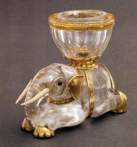 Elephant with Salt Receptacle