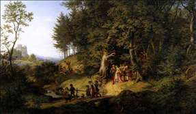 Bridal Procession in a Spring Landscape