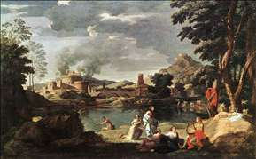 Landscape with Orpheus and Euridice