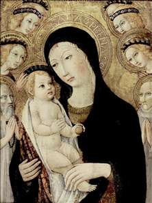 Madonna and Child with Sts Anthony Abbott and Bernardino of Siena