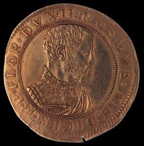 Gold Coin on Cosimo I (obverse)