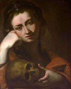The Penitent Magdalen or Vanitas