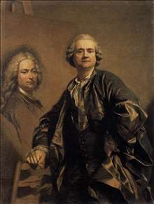 The Artist with a Portrait of his Father