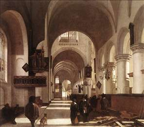 Interior of a Protastant Gothic Church