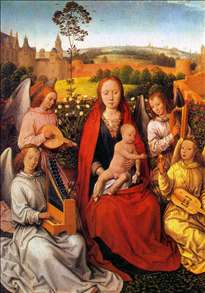Virgin and Child with Musician Angels