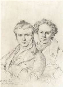 Double Portrait of Otto Magnus von Stackelberg and Jacob Linckh