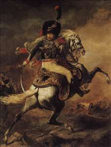 An Officer of the Chasseurs Commanding a Charge
