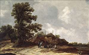 Farmyard with Haystack