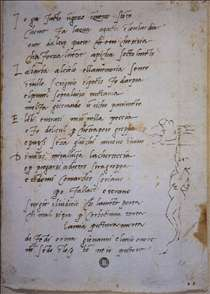 Sonnet with a caricature