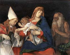 Madonna and Child with St Flavian and St Onophrius
