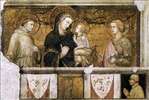 Madonna with St Francis and St John the Evangelist