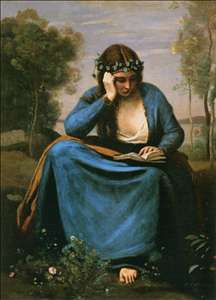 The Reader Wreathed with Flowers (Virgil's Muse)