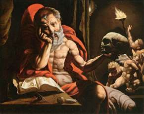 St Jerome Meditating