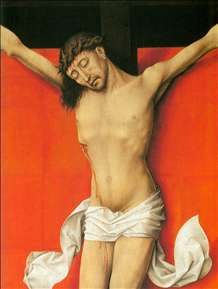 Crucifixion Diptych (detail of the right panel)