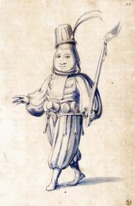 Costume drawing of a cook