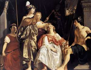 Minerva Crowns the Maid of Leiden