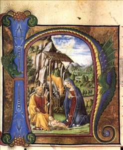 Nativity (in an Antiphonary)