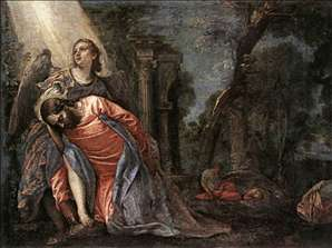 Christ in the Garden Supported by an Angel