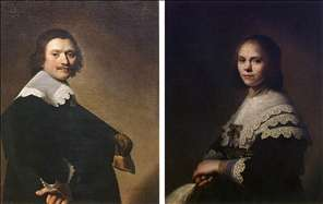 Portrait of a Man and Portrait of a Woman