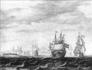 A Dutch Squadron on the Sont, near Castle Kronburg