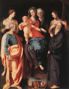 Madonna and Child with St Anne and Other Saints