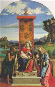 The Madonna and Child with St John the Baptist and Mary Magdalen