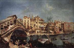 The Rialto Bridge from the Riva del Vin