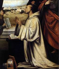 Vision of St Bernard with Sts Benedict and John the Evangelist