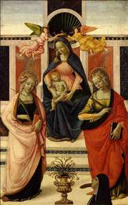 Virgin and Child Enthroned between St Ursula and St Catherine