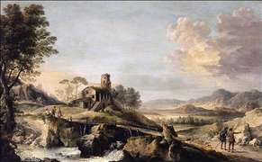 Pastoral Landscape with Figures