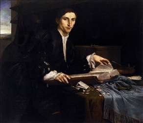 Portrait of a Gentleman in his Study
