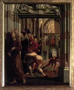 St Wolfgang Altarpiece: Purification of the Temple
