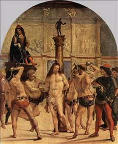The Scourging of Christ - Luca Signorelli Gallery - Religious ...
