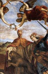 Allegory of the Victory over the League of Cambrai (detail)