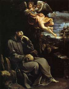 St Francis Consoled by Angelic Music