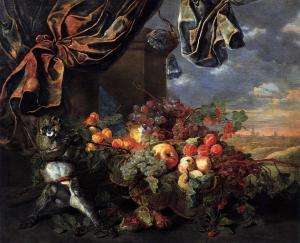 Still-Life with Fruit and Monkey