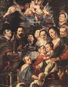 Self-portrait among Parents, Brothers and Sisters
