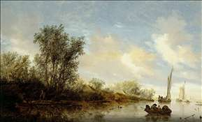 River with Fishermen