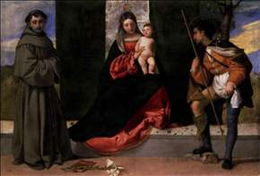 Madonna and Child with Sts Anthony of Padua and Roch