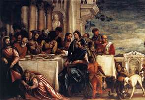 Feast at the House of Simon (detail)
