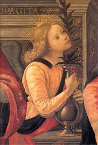 Madonna and Child Enthroned between Angels and Saints