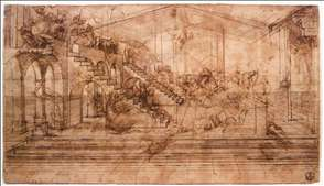 Perspectival study of the Adoration of the Magi