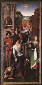 St John Altarpiece (left wing)