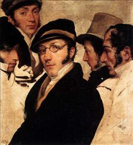 Self-Portrait in a Group of Friends